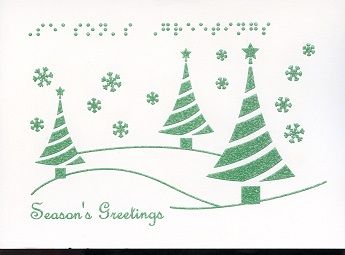 christmas cards archives  page  of   tactile vision graphics, Birthday card