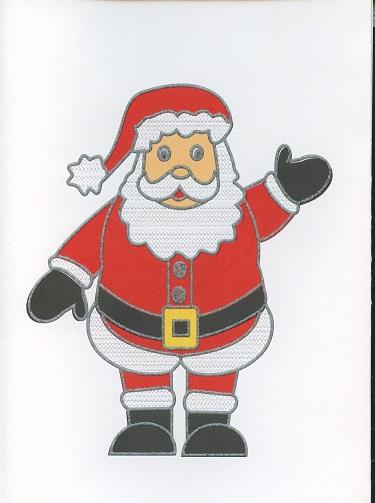 Carte de Vœux en Braille et Tactile Père Noël