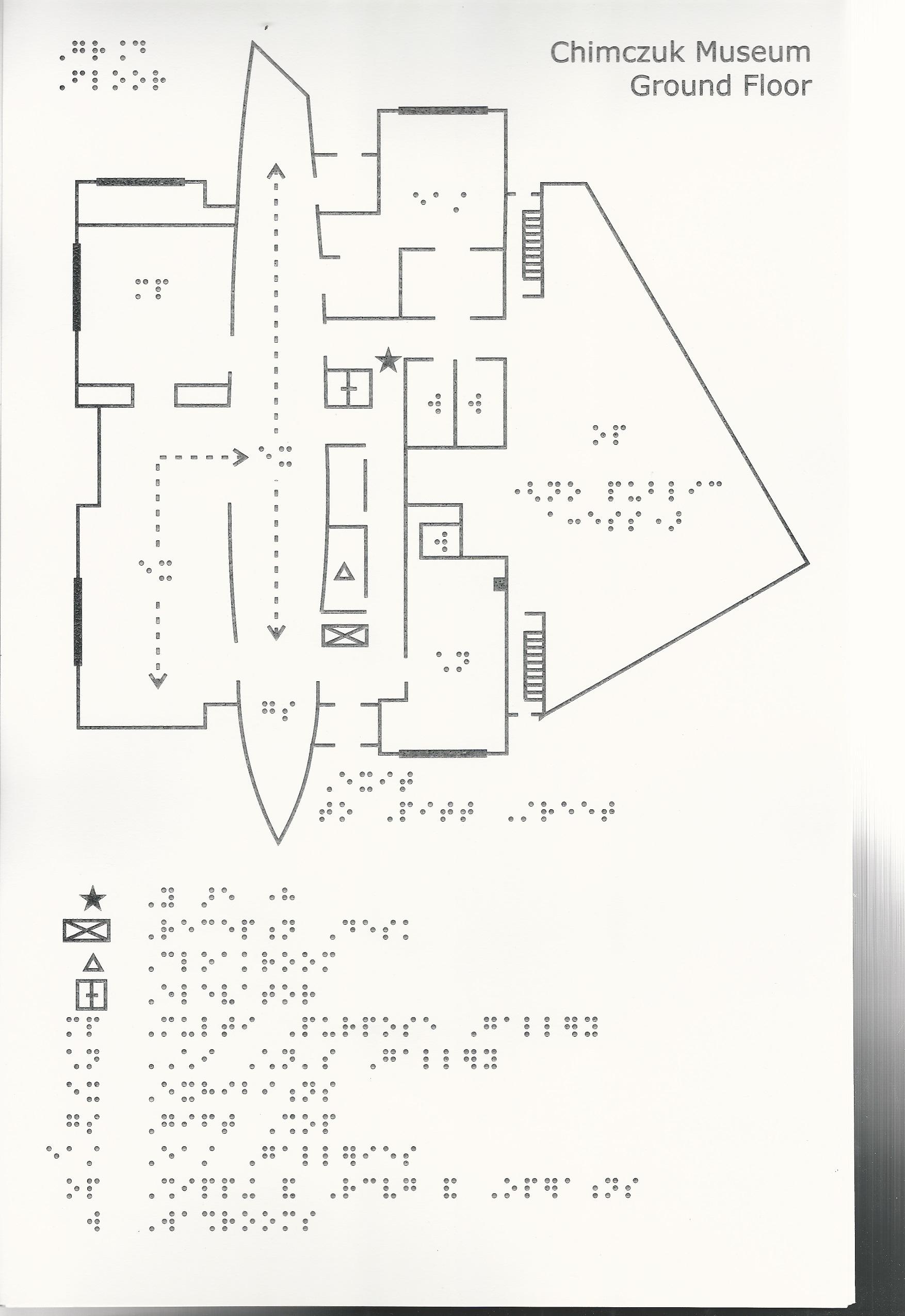 Braille map, ground floor, ChimCzuk Museum, Windsor Ontario